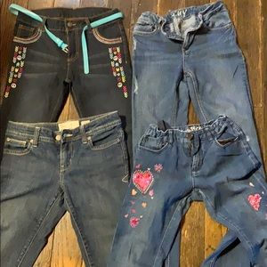 Lot of 4 size 12 girls jeans